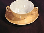 Antique Haviland France Luster Double Handled Cream Soup Liner