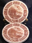 Alfred Meakin Staffordshire Fair Winds Brown Salad Plate