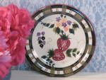Oneida China Dinnerware Strawberry Plaid Salad Or Lunch Plate
