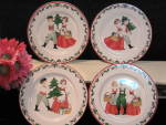 Block Bernarda Folk Christmas Lunch Salad Plate Set