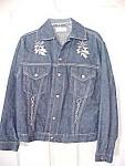 Rare Vintage Disneyland's Mexican Village Embroidery Denim Jacket