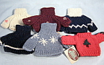 Set Of Six New Sweaters For Ganz Bears