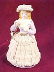 Victorian Lace Trimmed Lady Figurine Made In Japan
