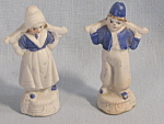 Bisque Vintage Japan Dutch Boy Girl Figures