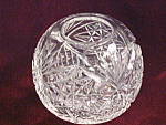 Vintage Cut Glass Small Rose Bowl Or Vase