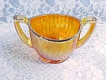 Vintage Carnival Luster And Clear Sugar Bowl