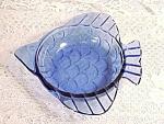 Scarce Cobalt Blue Depression Glass Fish Dish