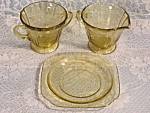 Madrid Amber Sugar Cream Bread Plate Federal Depression Glass