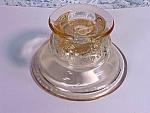 Vintage Pink Madrid Or Recollections Candle Holder Depression Glass