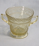 Amber Patrician Spoke Sugar Federal Depression Glass