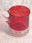Antique Ruby Flash Mug Diamond Sawtooth Pattern