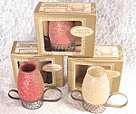 Vintage Laurence Miniature Scented Hurricane Candles In Boxes