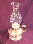 Vintage Gregorian Copper Handled Oil Lamp
