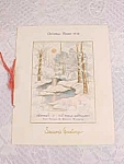 World War Ii Christmas Dinner 1938 Menu 76th Artillery Ft Francis