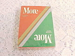 1992 More 120's Cigarettes Playing Cards Sealed Mint