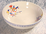 Vintage Tulip Pattern Large Serving Or Salad Bowl