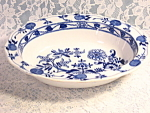 Meissen Flow Blue Onion Oval Vegetable Serving Bowl England