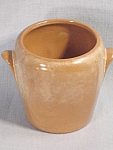 Frankoma Beige Handled Basket Vase Partial Original Label 5db