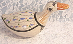Vintage Mexican Pottery Duck Figurine