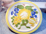 Red Wing Brittany Round Chop Platter Yellow Floral Pattern