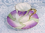 Stunning Antique Demi Or Demi-tasse Cup Saucer Rs Prussia