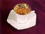 Antique Rs Prussia Demi Or Demi-tasse Six Sided Cup Saucer