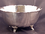 Vintage Heirloom Oneida Silverplated Footed Bowl Original Tags