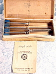 William Rogers & Sons Silver Plate Fruit Citrus Knives In Box