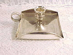 Vintage Art Deco Style England Silverplate Candle Holder