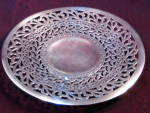 Antique Forbes Silver Plate Reticulated Mint Pastry Tray Plate