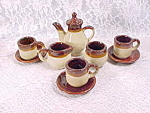 Vintage Brown And Beige Childs Teaset