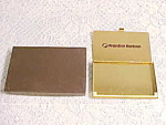 Vintage Brass Frontier Horizon Airlines Business Card Holder Box