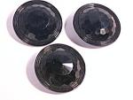 Jet Black Glass Antique Victorian Large Buttons