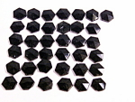 Antique Jet Black Glass Victorian Buttons Ornamental Pieces