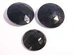 Jet Black Glass Antique Victorian Buttons Ornamental Pieces