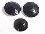 Jet Black Glass Antique Victorian Buttons Ornamental Pieces