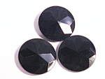 Jet Black Glass Antique Victorian Buttons
