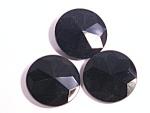 Jet Black Glass Antique Victorian Buttons