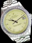 Man Rolex Date Just Watch Diamond Bezel Jubilee Ss