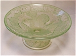 Consolidated Glass Goldfish Comport - Green