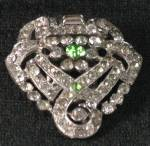Antique Art Deco Rhinestone Dress Scarf Clip