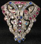 Art Deco Rhinestone Dress Scarf Clip