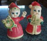 Santa & Mrs Clause, Rare Vintage Rubber Figures