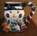 Christmas Cic Figural Snowman Mug - Tis The Season