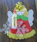 3d Christmas Angel, Vintage Foil Decoration 60s Era