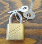 Mini Walco Padlock W/2 Keys Vintage