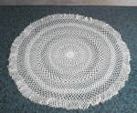 Large 20 In. Wide Crocheted Elegant Doilie