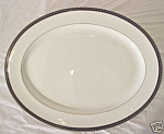 Aynsley & Sons England Twilight Oval Serving Platter