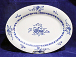 Liling China Blue Cathay Oval Serving Platter