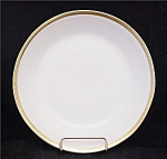 Gda Limoges France White Wide Gold Trim Soup Bowl's